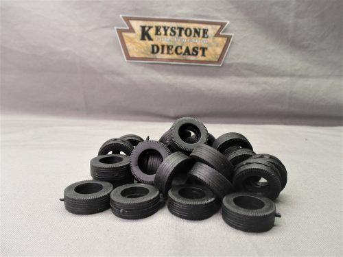 2 Float Tag Super Single Steer KMM-01 Rubber Tires for 1//48 or 1//50 scale