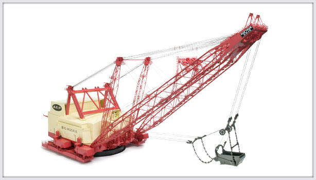 "CCM ""Big Muskie"" Bucyrus-Erie 4250-W Dragline 1:87 BRASS"