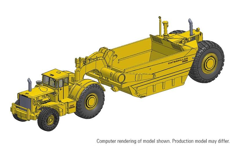 Deposit CCM CAT 666 80-Ton Wheel Tractor Scraper 1:48