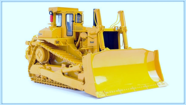 CCM Cat D10 Track-Type Tractor with Ripper 1:48