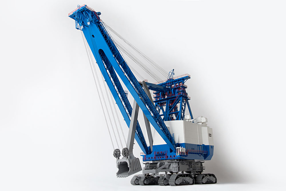 CCM Marion 6360 Electric Shovel BLUE/WHITE VERSION 1:87 BRASS