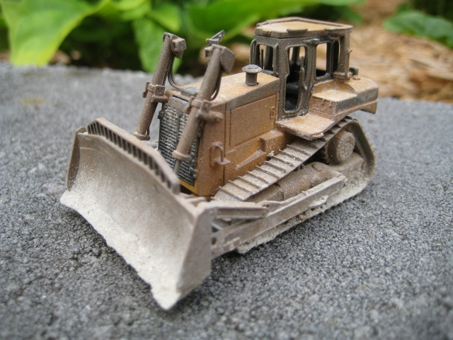 CCM Caterpillar D8 Dozer Custom Weathered 1:87 Brass