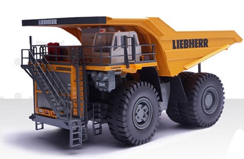 Conrad Liebherr T264 Dump Truck Yellow Grey 1:50