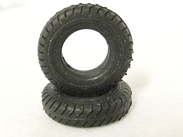 Pair Tires fits 100 ton Trucks NEW 1:87